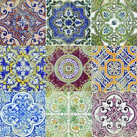 Mediterranean Porcelain Tile Color 3 Size 7 87x7 87in