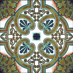Mediterranean Porcelain Tile Color 2 Size 7 87x7 87in